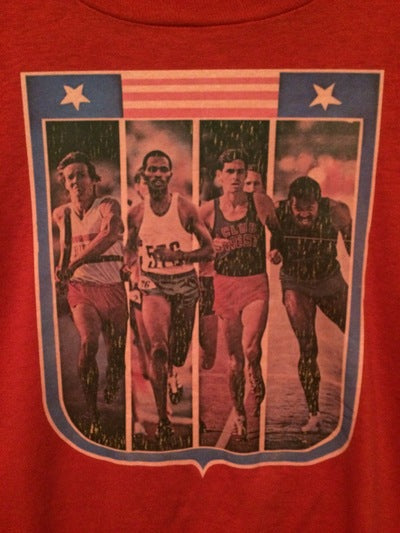 USA Olympic Track Runners Iron On Tee