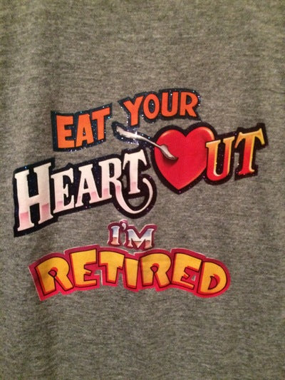80's I'm Retired Iron On Tee