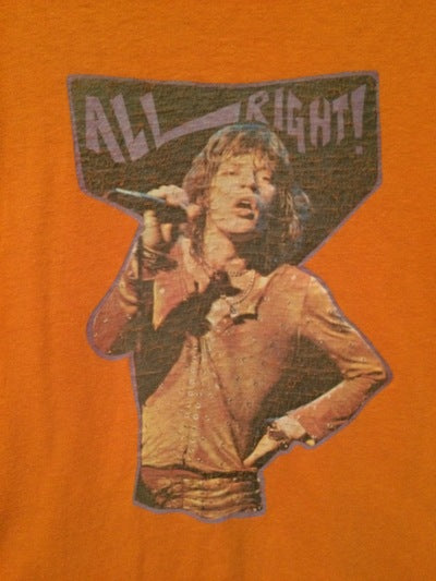 1980's Mick Jagger Iron On Tee