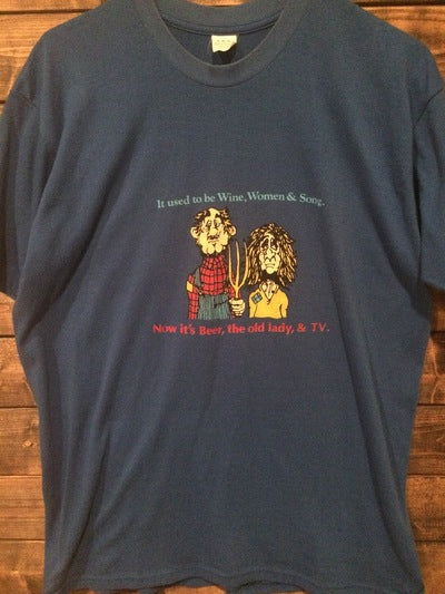 80's Funny Wine Women and Song Tee