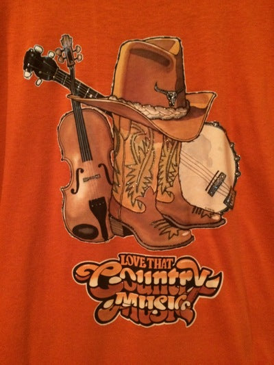 Country Music Iron On Tee