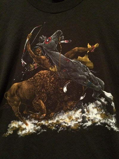 Kick Ass Native American on Horse Tee