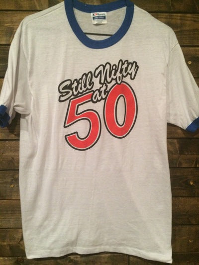 Nifty and 50 Ringer Tee