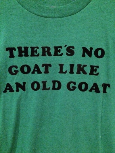 80's Fuzzy Letter Old Goat Tee