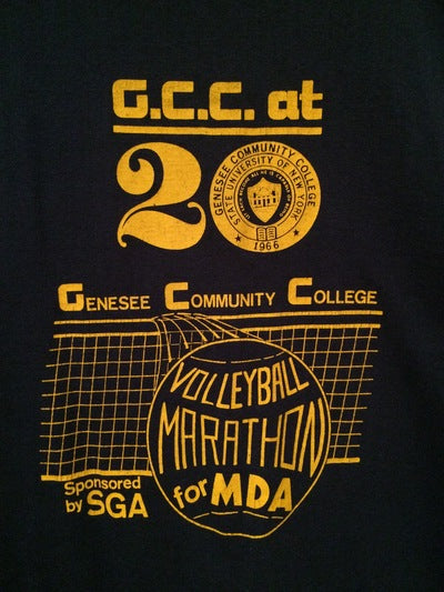 1986 Genesee Community College Tee