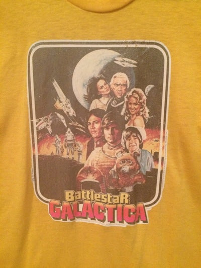 Battle Star Galactica Iron On Tee