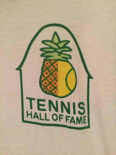 Tennis Hall Of Fame Champion Blue Bar Tee