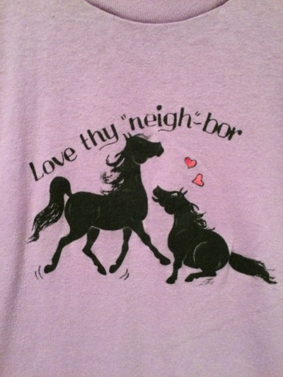 Funny 80's Neighbors Horse Tee