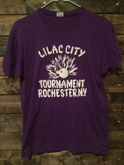 Early 80's Lilac Bowling Tournament Champion Blue Bar Tee