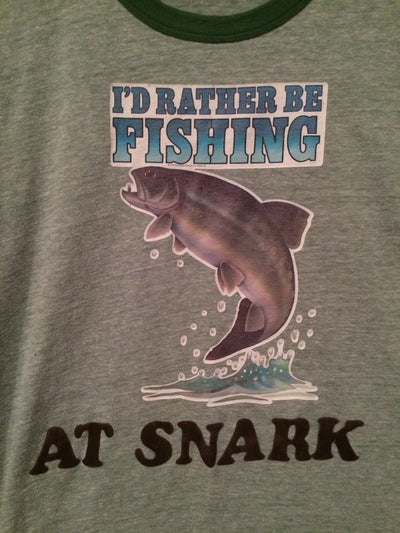 I'd Rather Be Fishing Iron On Ringer Tee