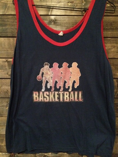 80's Basketball Iron On Muscle Tee