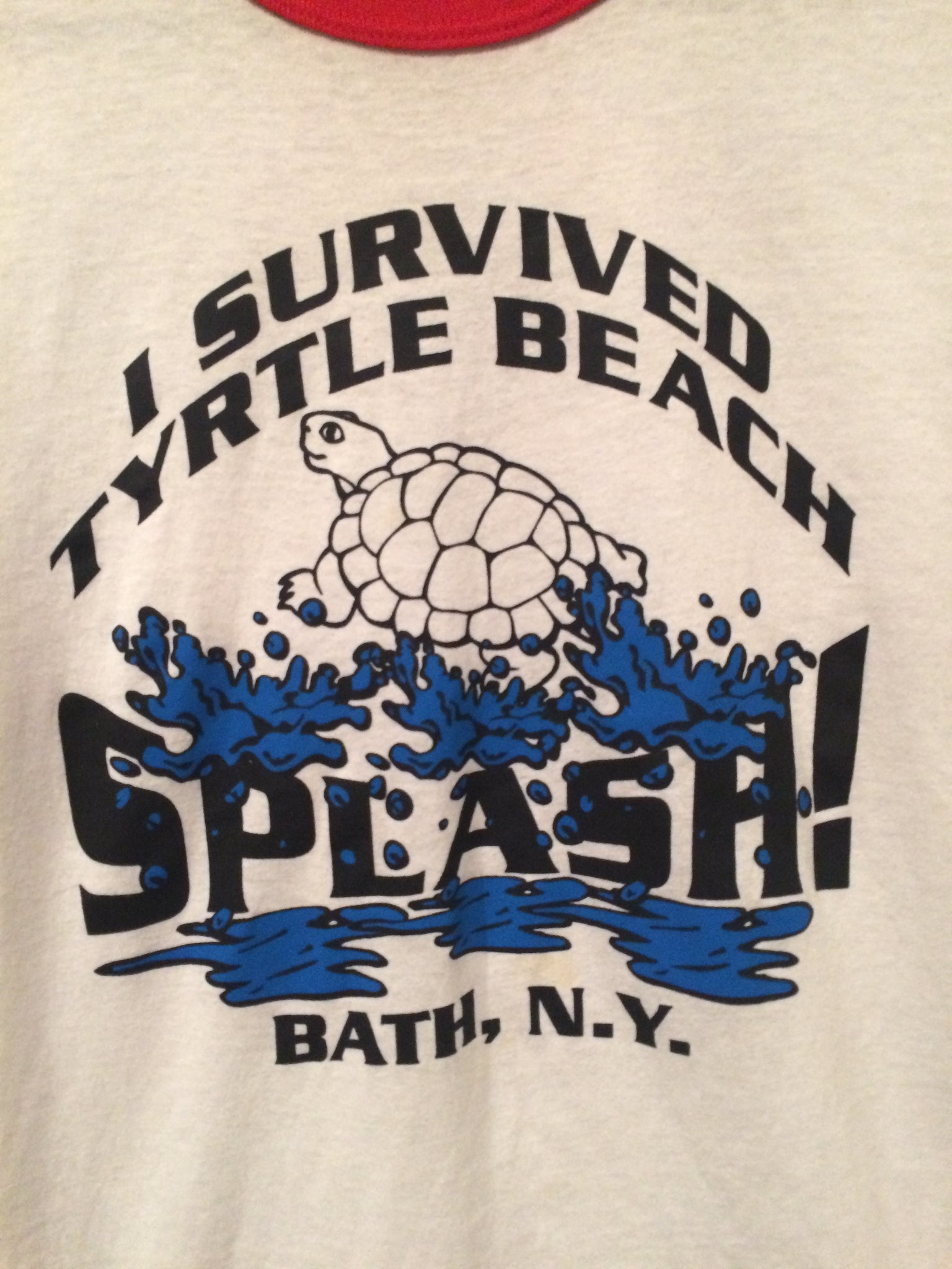 80's Turtle Beach Bath, NY Ringer Tee