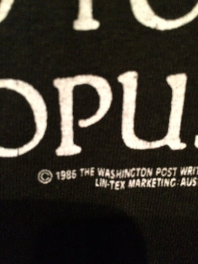 1986 Bill and Opus for President Tee