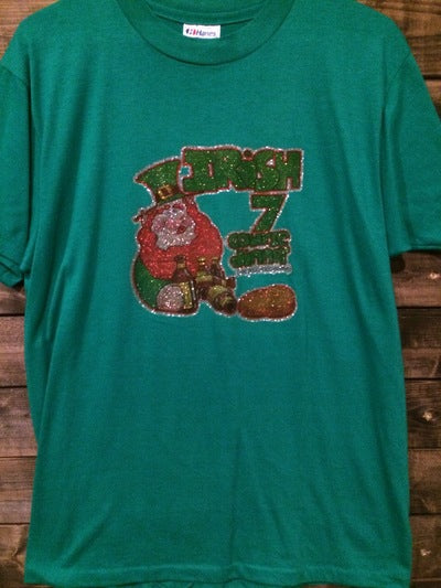 Funny Irish Dinner Iron On Tee