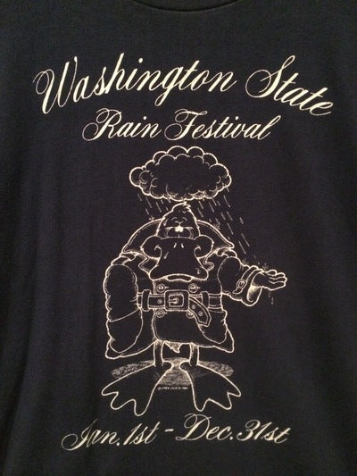 1980 Washington State Funny Rainy Season Tee