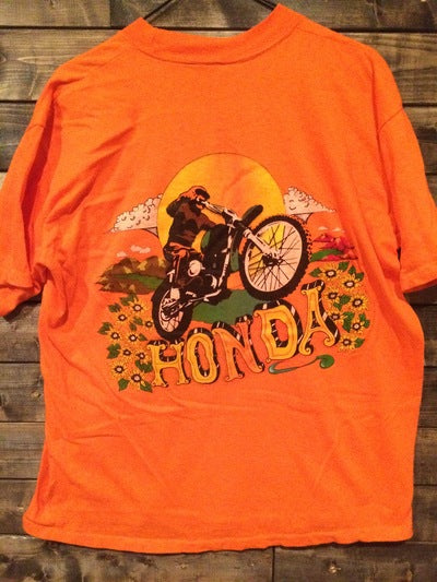 1970's Honda Motorcycle Pocket Tee