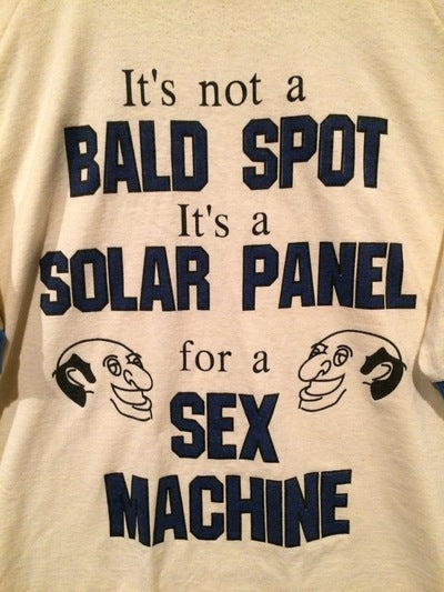 Funny 80's Bald Spot Tee