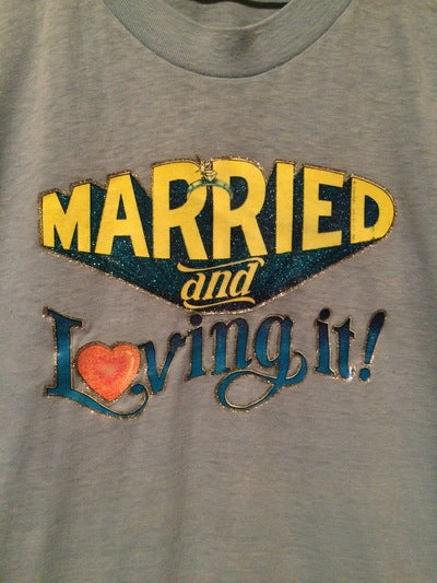 Married And Loving It Iron On Tee