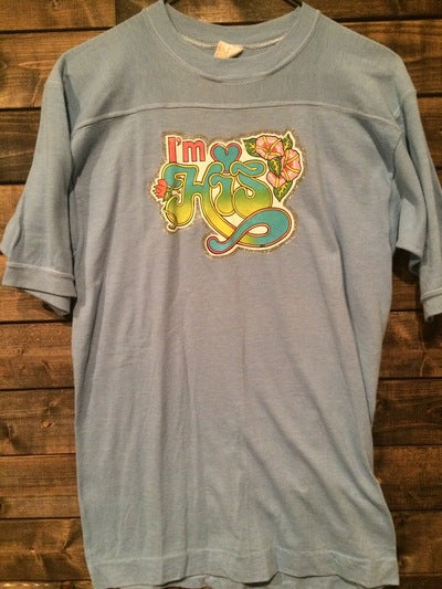 I'm His 80's Iron On 3/4 Sleeve Tee