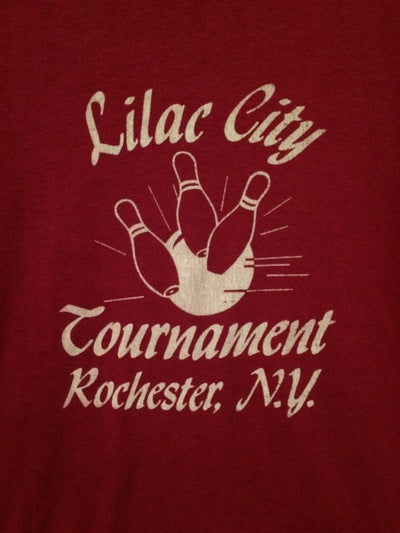 80's Lilac Bowling Tournament Tee