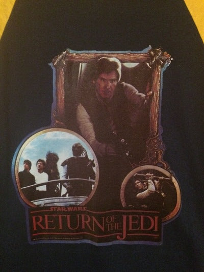 Return of the Jedi Iron On 3/4 Sleeve Tee