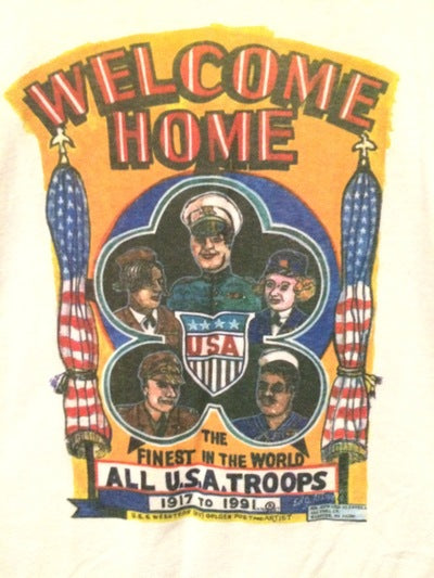 1991 Welcome Home Troops Tee