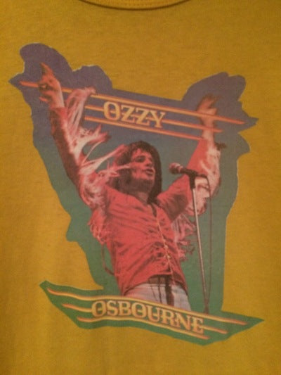 80's Ozzy Champion Brand Iron On Tee