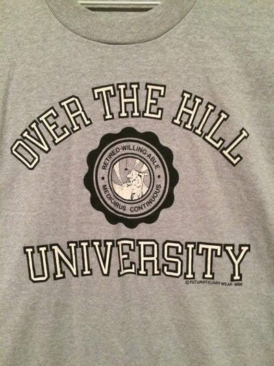 1986 Over The Hill University Tee