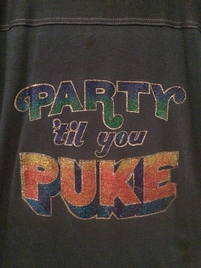 Early 80's Party Till You Puke 3/4 Sleeve Tee