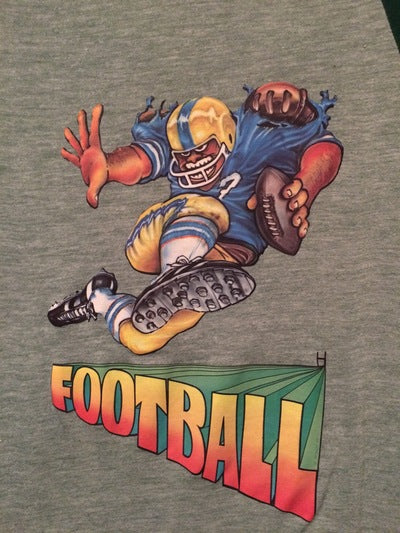 Velva Sheen Football Iron On Tee
