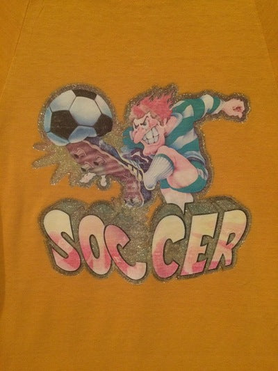 80's Champion Blue Bar Soccer Iron On Tee