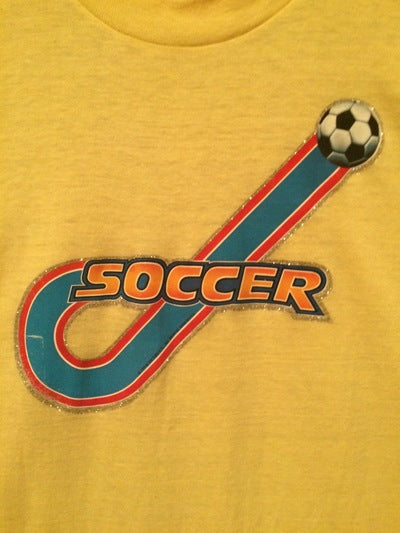80's Soccer Iron On Tee