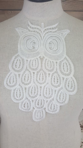 Trims: Lace Applique - Owl