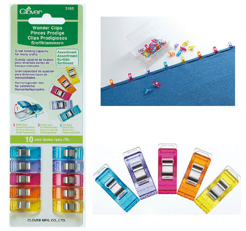 Notions: Wonderclips - Pack of 10 - Vinegar and Honey Co - Fine Fabrics and Notions