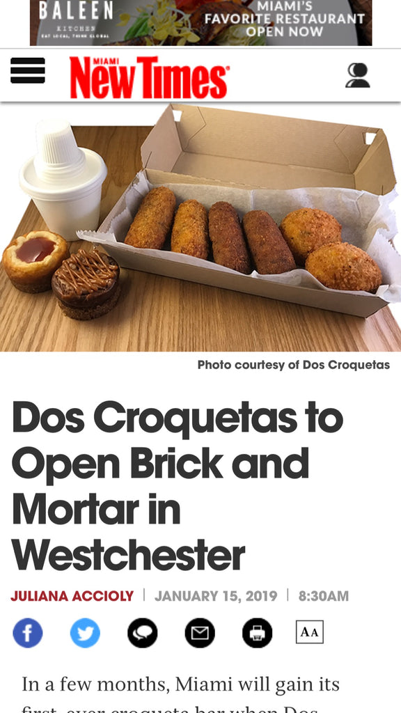 Dos Croquetas to Open Brick-and-Mortar in Westchester