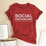 SOCIAL DISTANCING IF YOU CAN READ THIS YOU'RE TOO CLOSE Lettered Women T-shirt