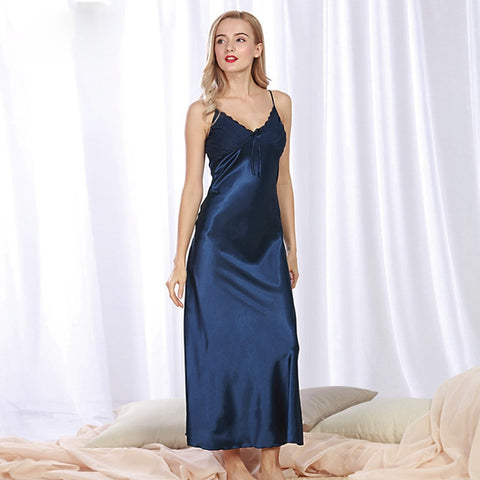 Satin Spaghetti Strap Night Gown