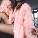Furry Faux Fur Coat - BoujichickFashions