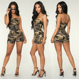Off shoulder Mini Romper - BoujichickFashions