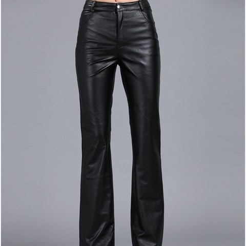 100% Genuine Leather Mid Waist  Pant