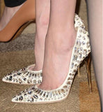 Luxury Crystal Embellished Stilettos - BoujichickFashions