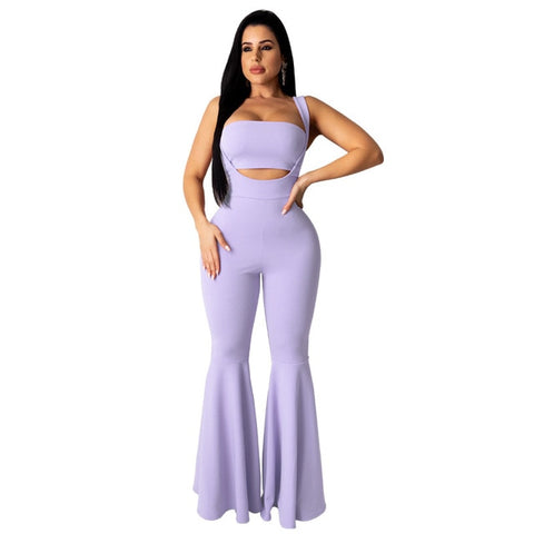 Adogirl 2 Piece Tube Top Flare Pant Set - BoujichickFashions