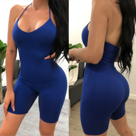 Slim Fitted Solid Tube Romper - BoujichickFashions