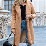 Double Breasted Wool Blend Long Coat