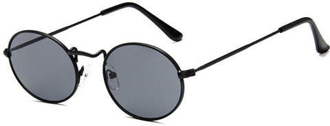 Oval Retro Steel Frames Round Sunglasses - BoujichickFashions