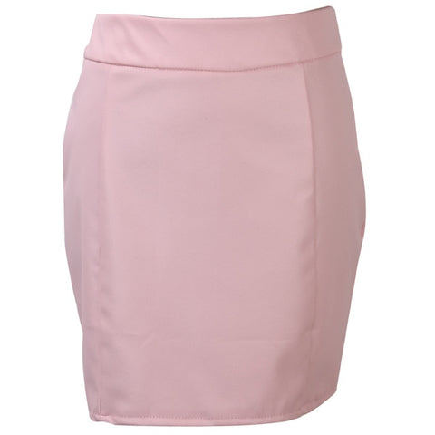 Bandage PU Leather High Waist Mini Skirts