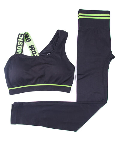 Athletic Quick Dry Breathable Sports Bra and Matching Pant - BoujichickFashions