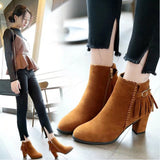 Womens Short Booties Ankle Boots - BoujichickFashions