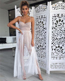 Long Sleeveless Mesh Style Maxi Dress - BoujichickFashions