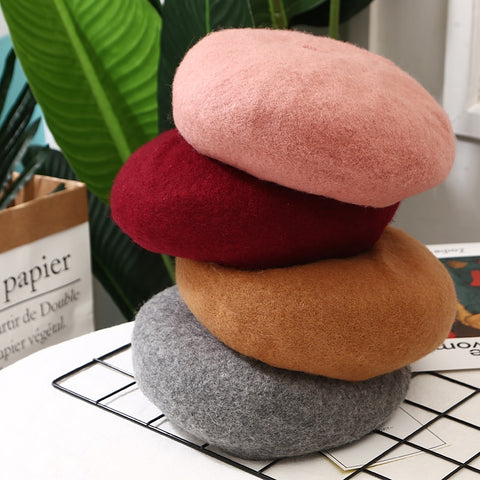 French Beret Wool Winter Hats - BoujichickFashions